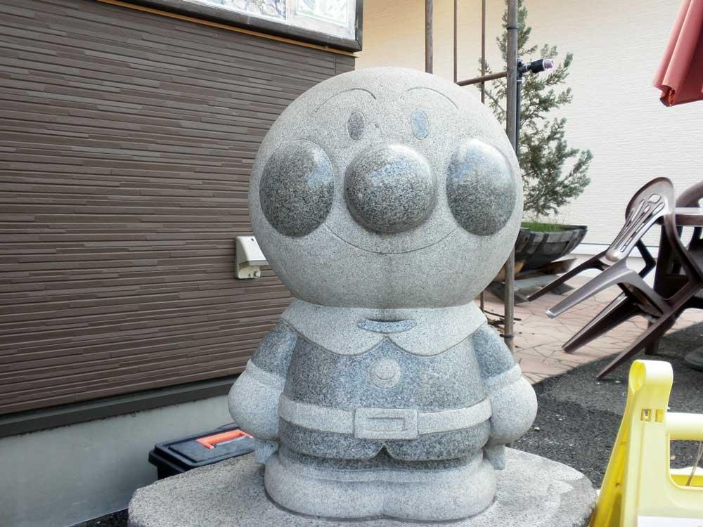 アンパンマンの石像